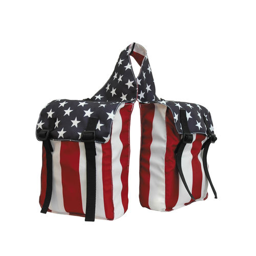 Satteltasche IN NYLON 2 TASCHEN USA Stars and Stripes