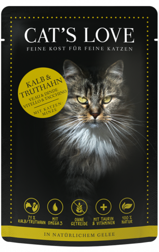 Adult Mix Kalb & Truthahn | Katzen Nassfutter