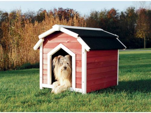 Trixie natura Hundehütte Country S–M: 71 × 69 × 75 cm rot