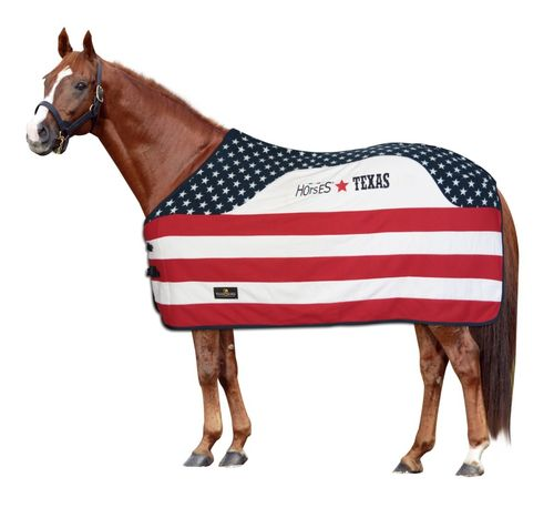 Horses Fleecedecke Texas Stars and Stripes
